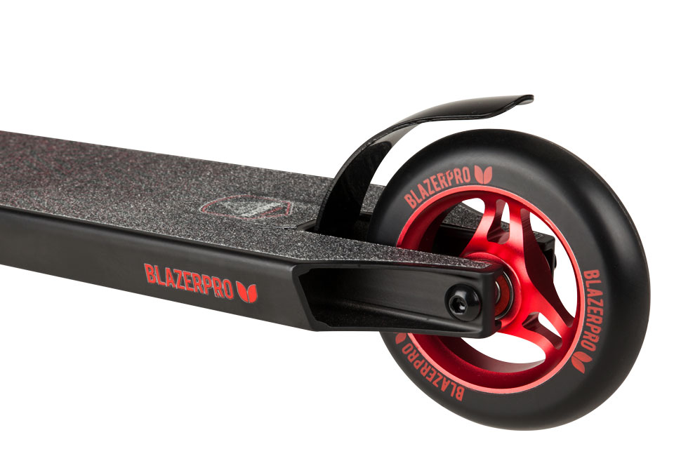 Blazer Pro Complete Scooter - Spectre Series Red Rear Wheel Detail