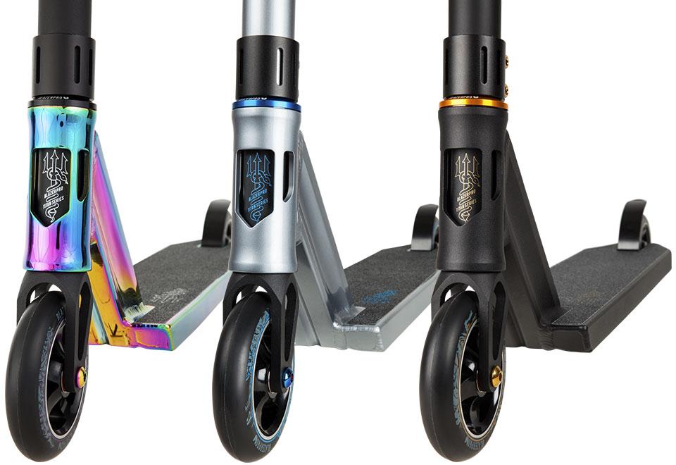 Blazer Pro Titan Series - Iris Medusa Poseidon Scooter Forks Wheel Detail