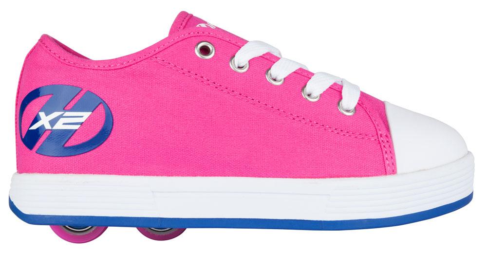 Heelys Fresh Fuchsia Navy 2 Wheel Girls Shoe 770496
