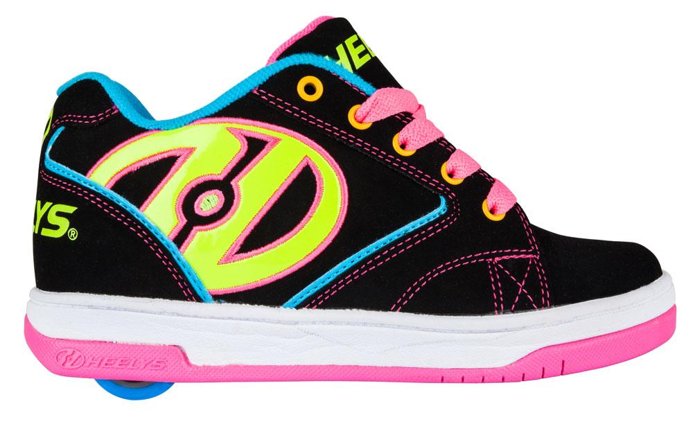 Heelys Propel 2.0 Black Neon Multi 1 Wheel Girls Shoe 770512