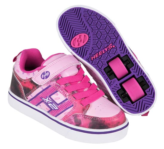 Heelys Bolt Plus Pink Purple Space 2 Wheel Girls Shoe 770798