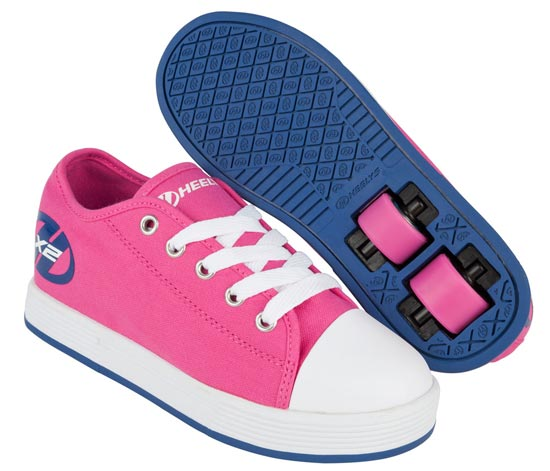Heelys Fresh Fuchsia Navy 2 Wheel Girls Shoe 770496