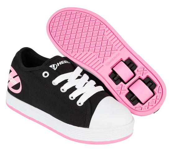 Heelys Fresh Black Pink 2 Wheel Girls Shoe 770497