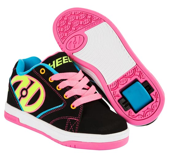 Heelys Propel 2.0 Black Neon Multi 1 Wheel Girls Shoe 770512
