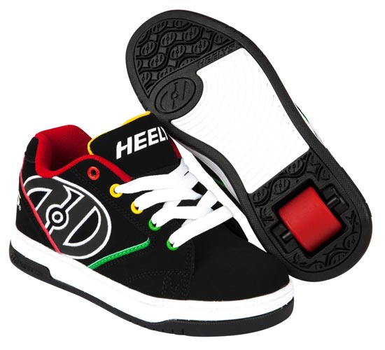 Heelys Propel 2.0 Black Reggae 1 Wheel Boys Shoe 770603