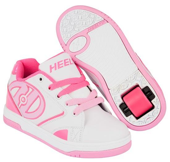 Heelys Propel 2.0 White Hot Pink Light Pink 1 Wheel Girls Shoe 770605