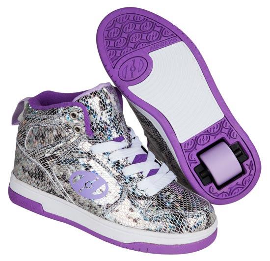 Heelys Flash 2.0 Snake Metallic Purple 1 Wheel Girls Shoe 770625