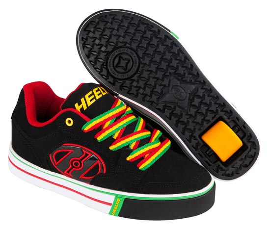 Heelys Motion Plus Black Reggae 1 Wheel Boys Shoe 770629