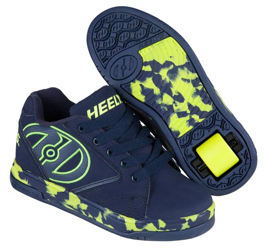 Heelys Propel 2.0 Navy Lime Confetti 1 Wheel Boys Shoe 770808