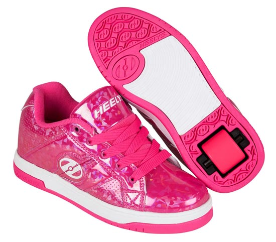 Heelys Spilt Pink Hologram 1 Wheel Girls Shoe 770814