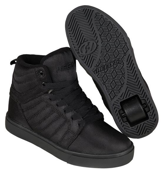 Heelys Uptown Black Ballistic Nylon 1 Wheel Boys Shoe 770824