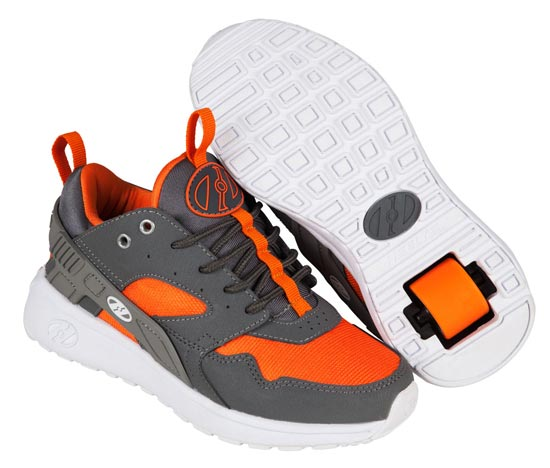 Heelys Force Dark Grey Grey Orange 1 Wheel Boys Shoe 770836