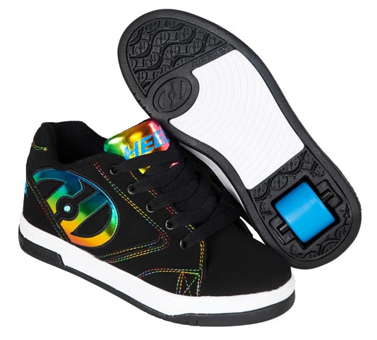 Heelys Propel 2.0 Black Rainbow Foil 1 Wheel Girls Shoe 770844