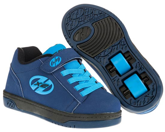 Heelys Dual Up Navy New Blue 2 Wheel Boys Shoe 778050