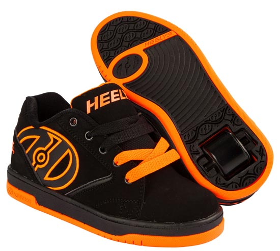 Heelys Propel 2.0 Black Orange 1 Wheel Boys Shoe 770506