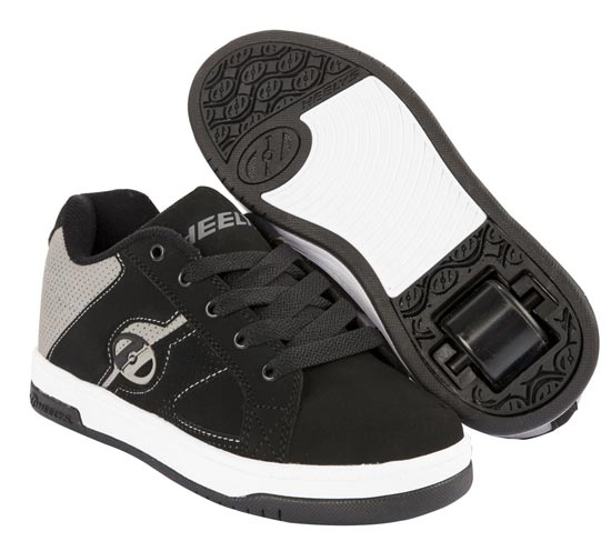 Heelys Split Black Grey 1 Wheel Boys Shoe 770519