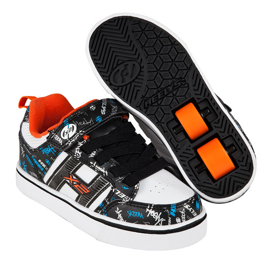 Heelys Spring Summer 2017 Bolt Plus X2 Black White Orange Cyan