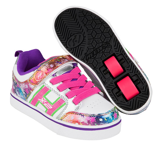 Heelys Spring Summer 2017 770943 Bolt Plus X2 White Silver Rainbow