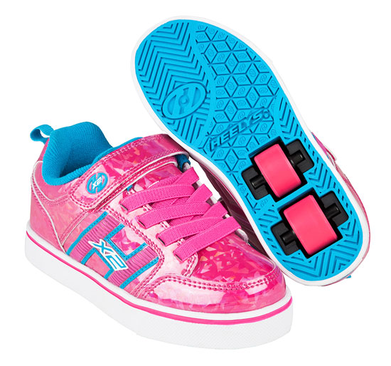 Heelys Spring Summer 2017 770944 Bolt Plus X2 Hot Pink Hologram Neon Blue