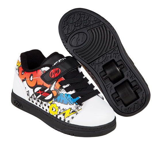 Heelys Spring Summer 2017 770947 Dual Up X2White Black Multi Comic