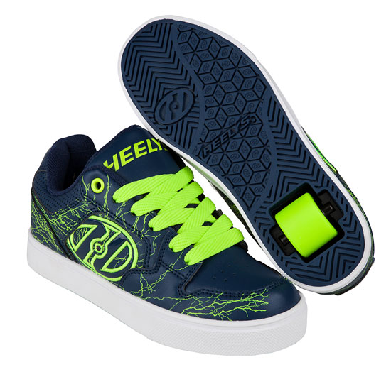 Heelys Spring Summer 2017 770996 Motion Plus Navy Bright Yellow Electricity
