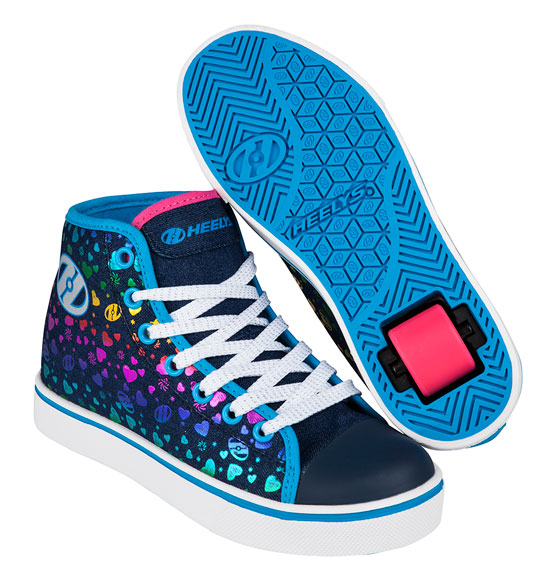 Heelys Spring Summer 2017 771013 Veloz Denim Multi Hearts
