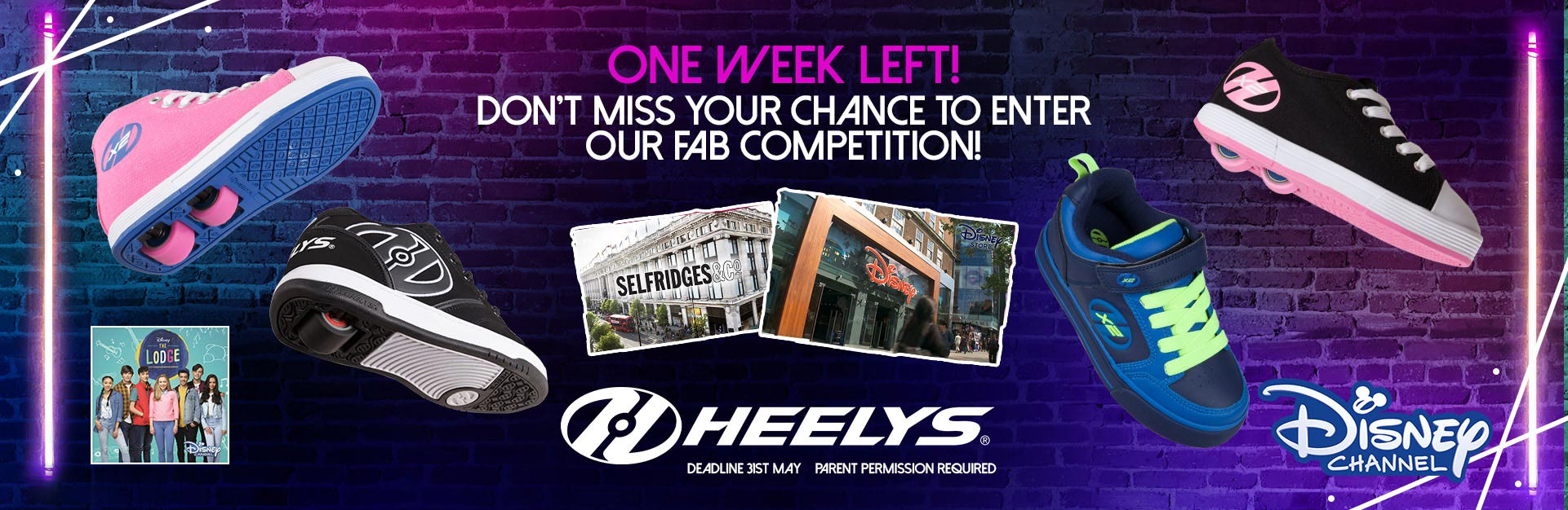 One week left! Don't miss your chance to enter our fab competition.