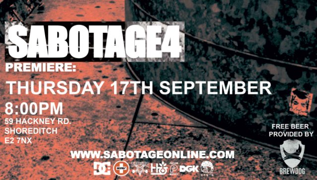 Sabotage Premiere