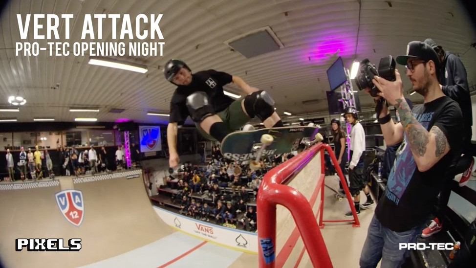 Vert Attack XII officially started yesterday evening with the Pro-Tec Opening Night and as ever, it went off!