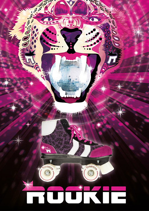 Rookie Rollerskates Retro Poster