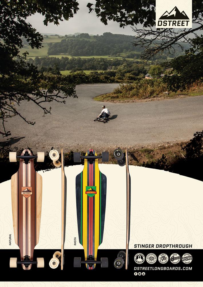 D Street Longboarder Advert